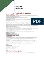 Filosofia Peruana y