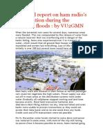 A Factual Report on Dec 15 Chennai Flood Ham Radio