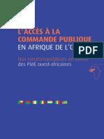 l Acces a La Commande Publique en Afrique de l Ouest
