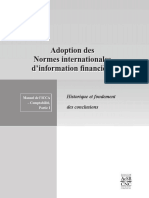Adoption Des Normes Internationales d Information Financiere
