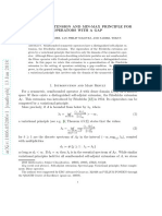 Friedrichs Extension and Min-Max Principle for Operators with a Gap