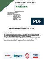 ENTIDADADES PRESTADORAS DE SALUD