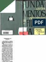 MORENTE, Manuel Garcia. Fundamentos de Filosofia