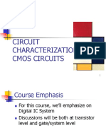 Chapter 1 - Circuit Characterization of CMOS Circuits