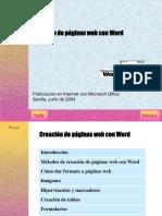 Creacion de Paginas Wep Con Word
