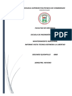 Informe Visita Tecnica Refineria La Libertad