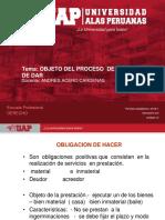 objeto Del Proceso de Obligaciones.