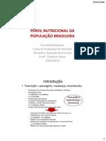 Perfil Nutricional Brasil