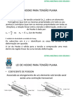 Lei de Hooke Para Tensão Plana