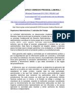 Nucleo Tematico i Derecho Procesal Laboral i