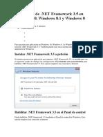 Instalación de .NET Framework 3.5
