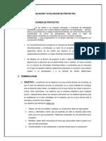 Formulacion y Evaluacion de Proyectos (Tarea 2)