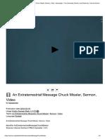 An Extraterrestrial Message Chuck Missler