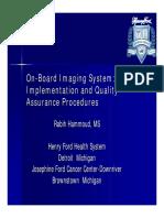 On-Board Imaging System- Board Imaging System HammoudQA