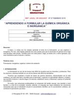 Quimica Organica e Inorganica