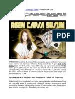 Situs Judi Capsa Online | SAKONGKIU.com