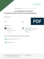 SPE 153615 InterferenceTestsAnalysisinFracturedFormationsWithaTime Fractional
