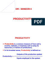 OM Productivity Session 6