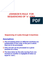 Johnson's Rule Problem