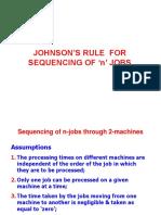 Johnson's Rule Problem