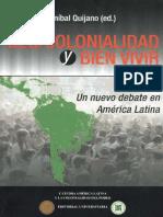 Descolonialidad y Bien Vivir (Anibal Quijano (Ed.))