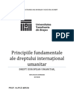 Principiile Fundamentale Ale Dreptului Internațional Umanitar