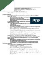 teaching resume updated
