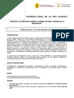 Circular XII Seminario Internacional de La RedESTRADO