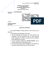 Judicial Affidavit Def
