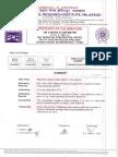 MFM Calibration Certificate