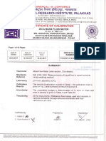 MFM Calibration Certificate