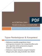 Algoritma Dan Pemrograman Komputer