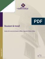 Sujet 1 Analyse de La Concurrence Bancaire Banque Almaghrib