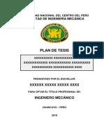 Formato de Plan de Tesis 2018