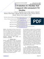 Productiveness Evaluation of a Machine Tool Manual Setup Compared with Automated CNC Machine