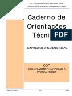 FINANCIAMENTO CAIXA CADERNO DE ORIENTAÇÕES