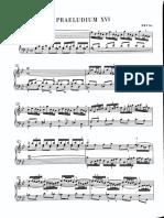 Bach. Preludio y Fuga XVI Libro I