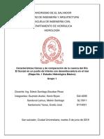 Características Físicas y de Comparación de La Cuenca Del Río El Sunzal