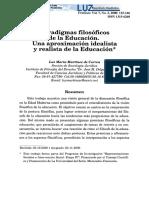 Visión idealista y realista de la educación.pdf