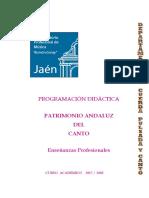 Programación patrimonio andaluz del canto