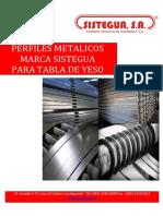 Perfiles Metalicos de Tabla Roca Sistegua