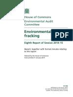 Environmental Risks of Fracking