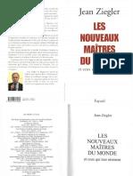 Ziegler Jean - Les Nouveaux Maîtres Du Monde Et Ceux Qui Leur Résistent