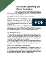 Bí Quyết Tìm Việc Làm Lâm Đồng Qua Internet
