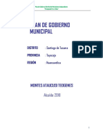 Plan de Gobierno 2018- Santiago de Tucuma