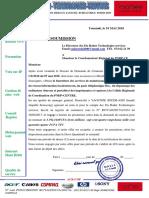 Lettre Soumission PNDP