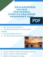 Najpopularniejsze polskie przysłowia
