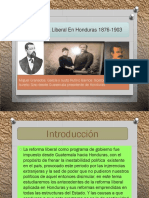 La Reforma Liberal en Honduras 1876-1903