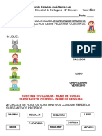 Prova de Portugues 2º Bimestre