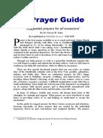 A Prayer Guide